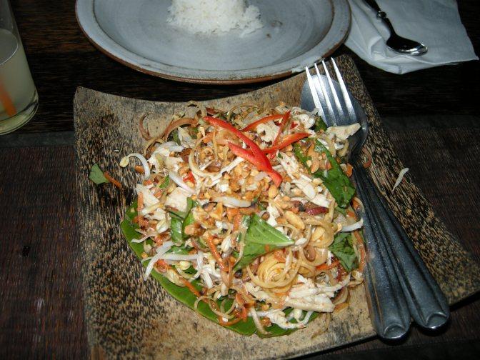 Salade de fleurs de bananier - nhoam tra-yaung chek