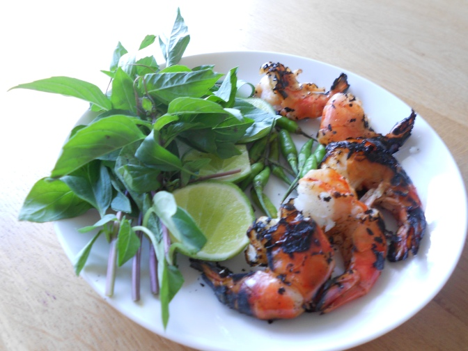 Gambas grill es cuisine cambodge - Accompagnement gambas grillees ...