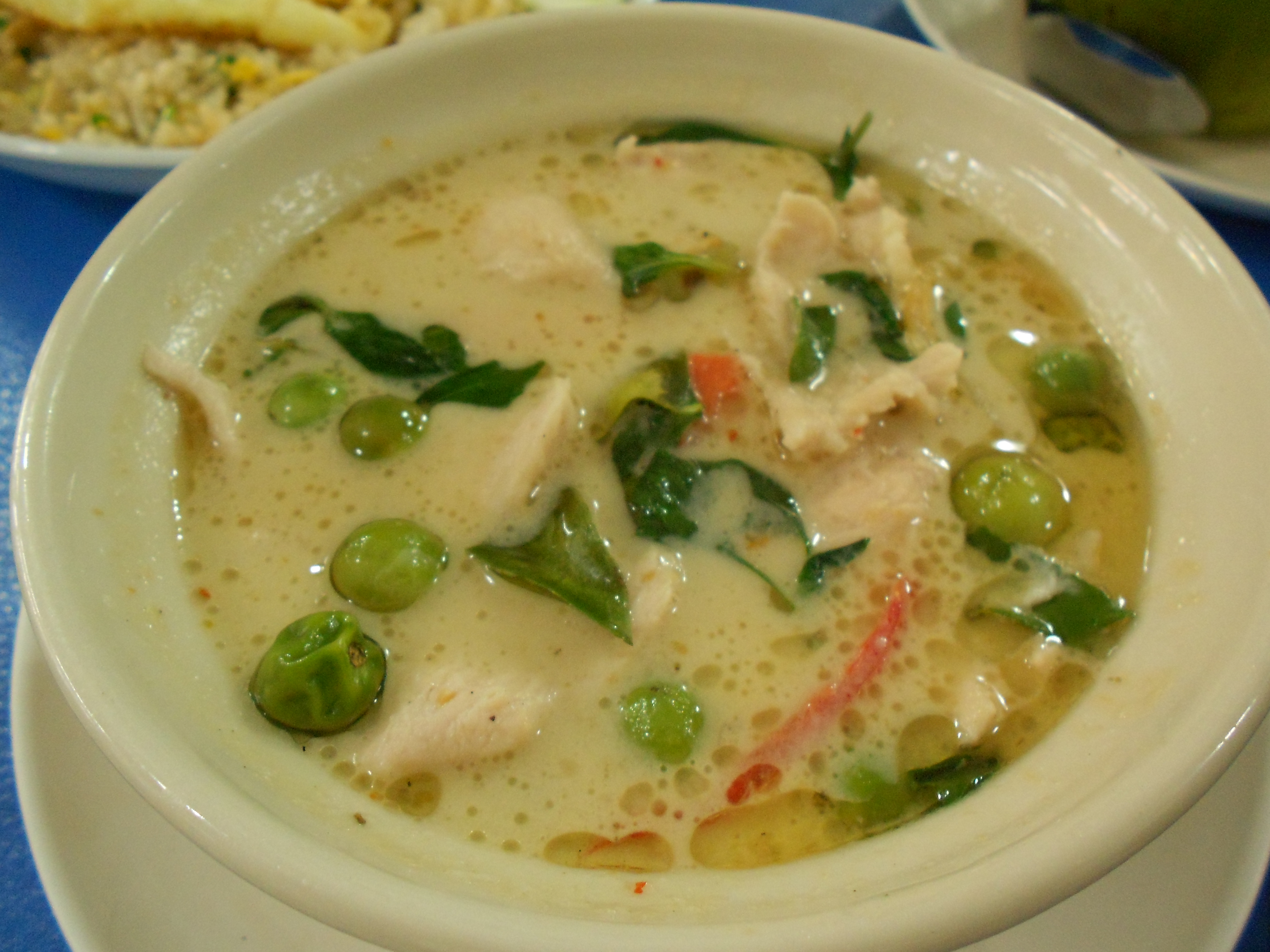 Curry vert au poulet cuisine cambodge - Cuisine thai poulet curry vert ...