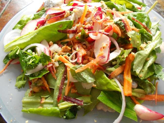 Salade de crevettes marinées