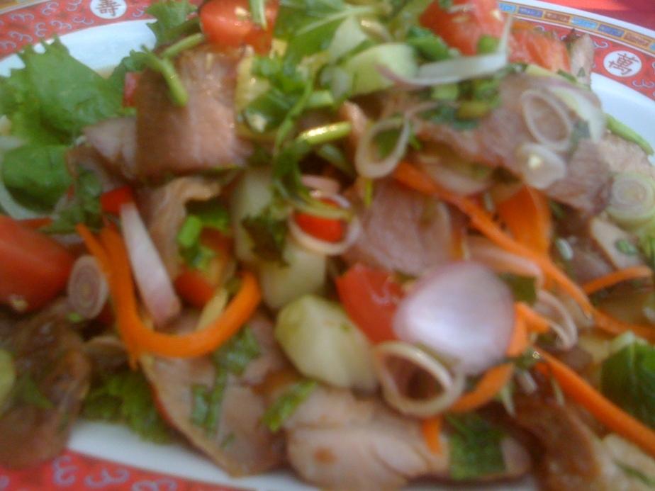 Salade de boeuf épicée