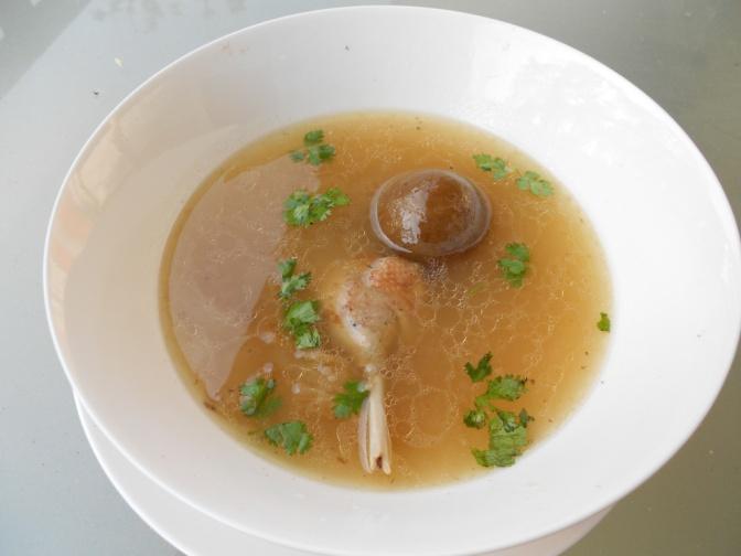 Soupe citronnée de canard
